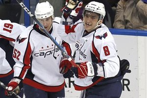 Mike Green and Alex Ovechkin