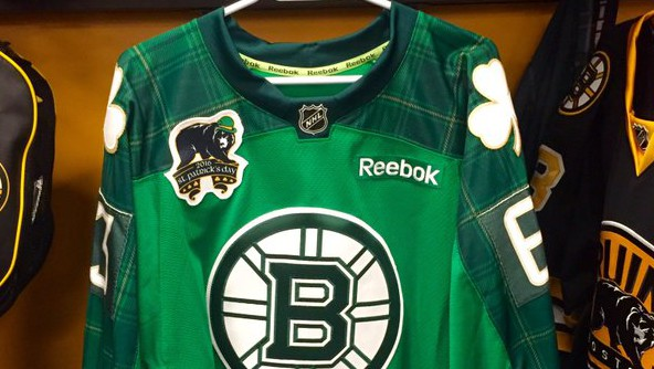 Bruins will wear green St. Patrick's