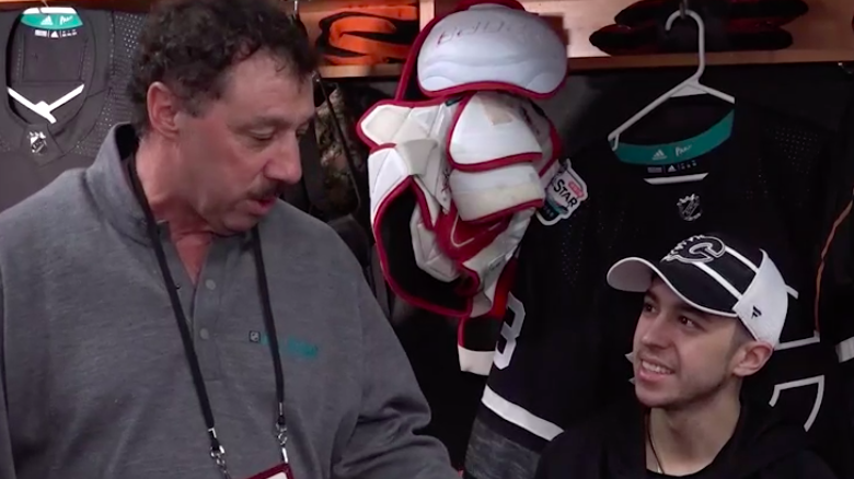 Johnny Gaudreau shares 'special' All-Star experience with dad