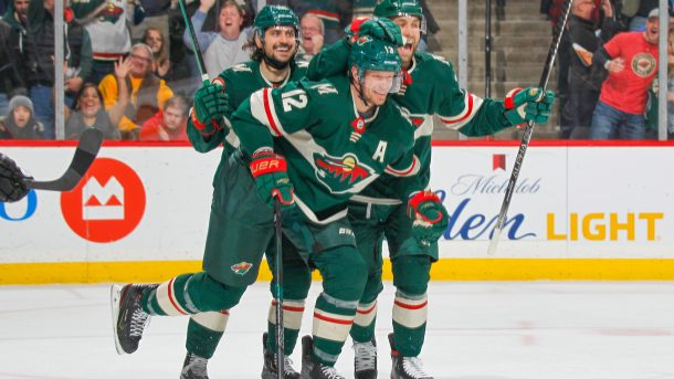 NHL Scores Eric Staal Minnesota Wild