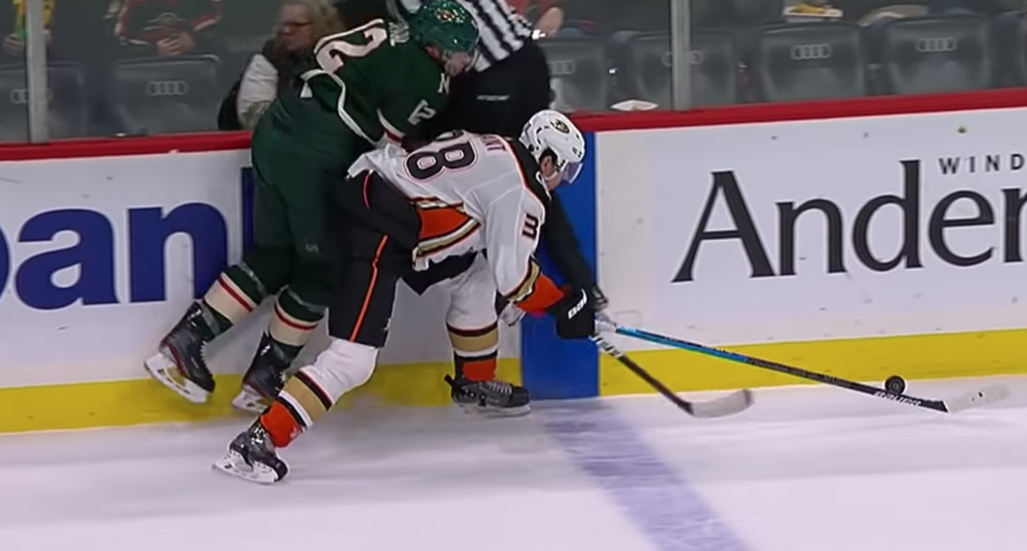 Wild S Eric Staal Injured In Collision With Linesman Video