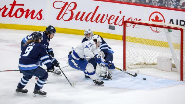 Anthony Cirelli #71 of the Tampa Bay Lightning