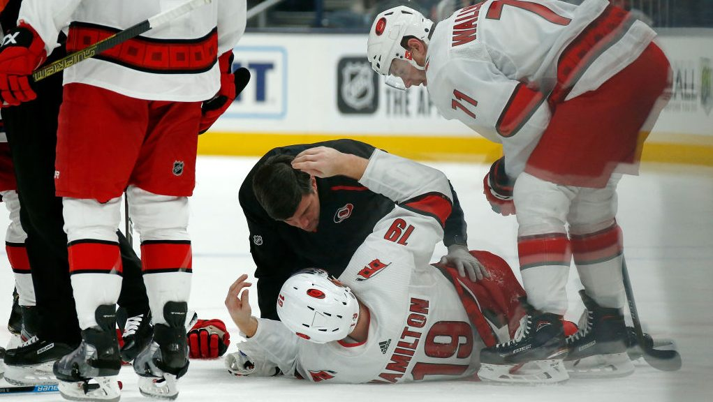 Bad news on Hurricanes' Hamilton: broken bone in leg
