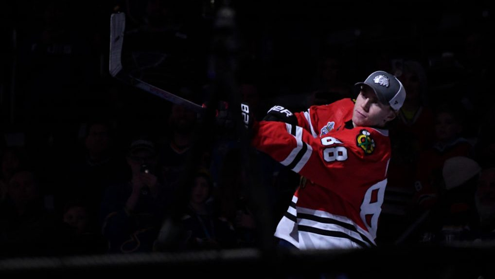 Patrick Kane beats Mitch Marner in tiebreaker to win first Shooting Stars event