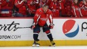 Alex Ovechkin #8 of the Washington Capitals wears Kobe Bryant's number 24 on his jersey