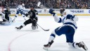 Steven Stamkos #91 of the Tampa Bay Lightning shoots and scores