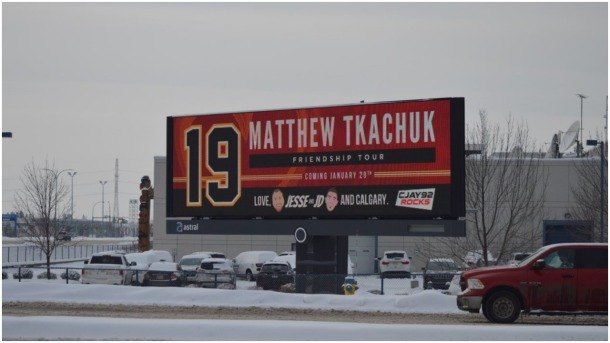 Tkachuk billboard in Edmonton