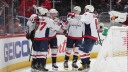 Nicklas Backstrom #19 of the Washington Capitals celebrates