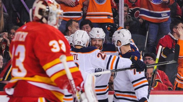 Oilers latest Battle of Alberta Leon Draisaitl buzzer
