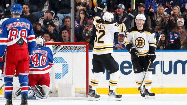 Bruins beat Rangers improve Atlantic NHL lead