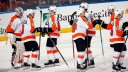 The Philadelphia Flyers celebrate their 6-2 win over the Florida Panthers