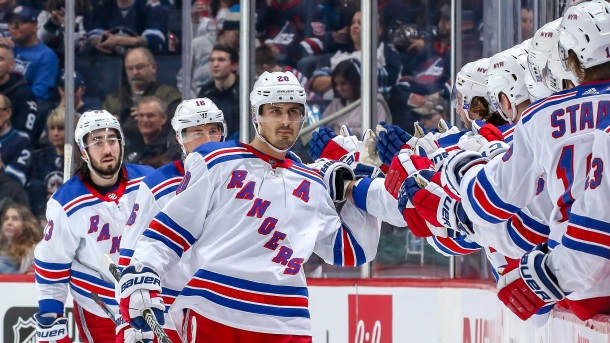 Chris Kreider #20 of the New York Rangers