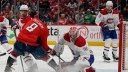 Carey Price #31 of the Montreal Canadiens makes a save against Alex Ovechkin