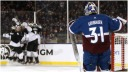 Avs lose Grubauer to injury Kings win Toffoli hat trick