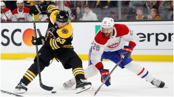 Marchand move assist to Pastrnak Bruins Habs