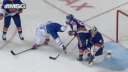 Islanders defenseman Johnny Boychuk clipped with skate