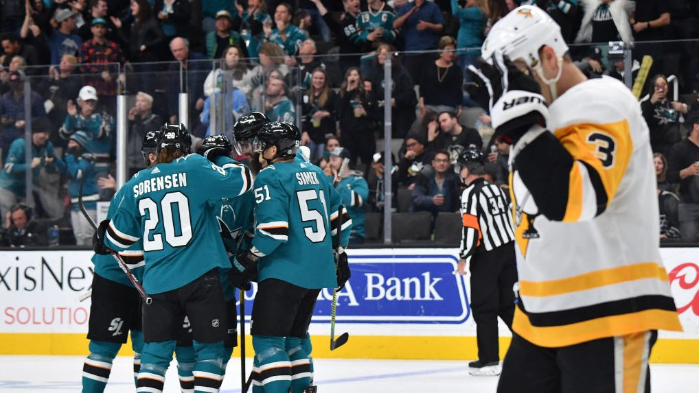 Penguins losing streak reaches six games after Sharks shutout Flyers ahead