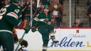 Kevin Fiala #22 of the Minnesota Wild celebrates after scoring a goal