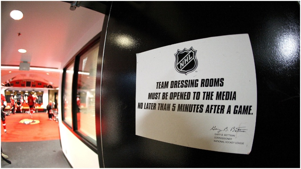 NHL closing locker rooms MLB NBA MLS