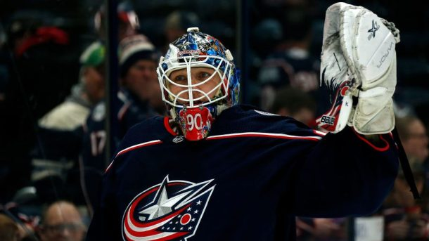 Blue Jackets extend Elvis Merzlikins