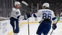 Steven Stamkos and Nikita Kucherov of the Tampa Bay Lightning