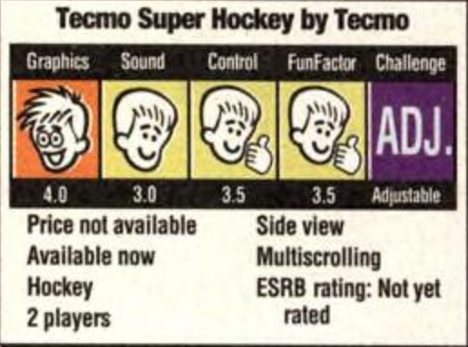 Game Pro score for Tecmo Super Hockey