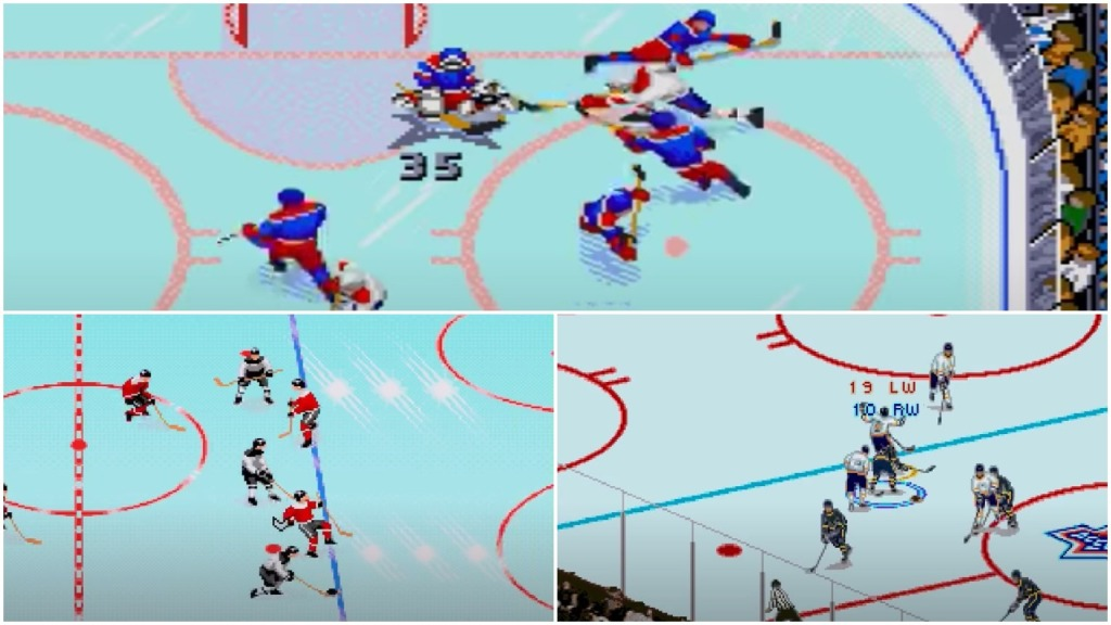 Tecmo Super Hockey NHL 95 Brett Hull 95 angles