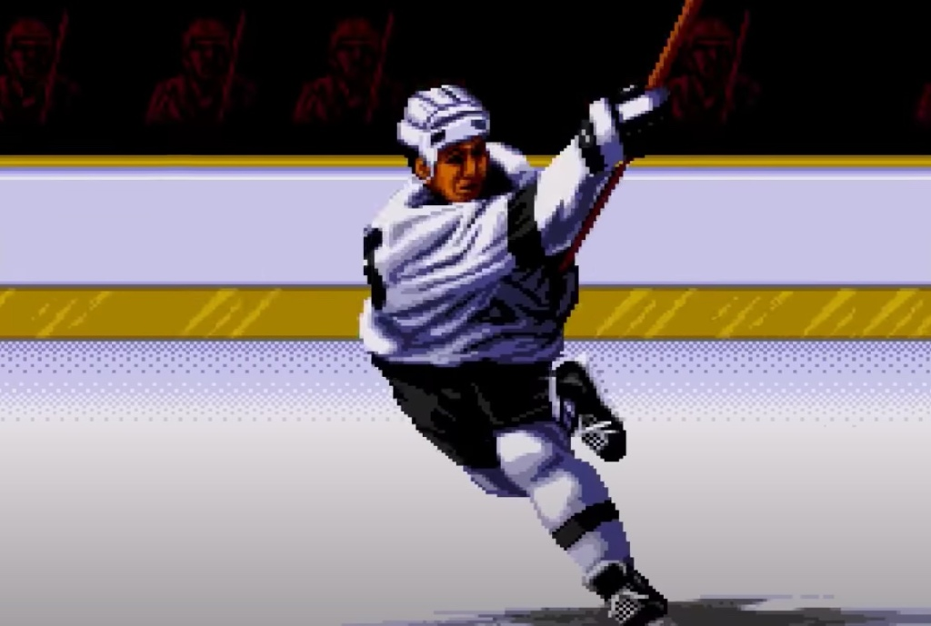 Tecmo Super Hockey cutscene