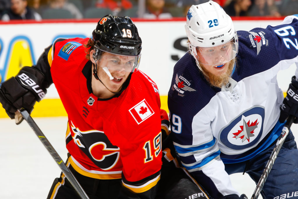 Western Conference qualifying round matchups Jets Flames
