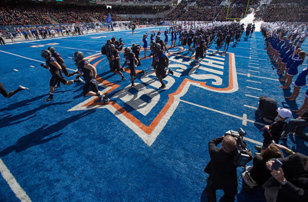 Boise State field Climate Pledge Arena greenest ice
