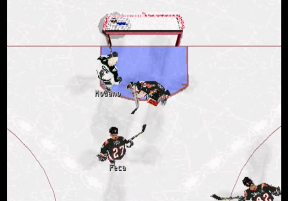 NHL FaceOff screen, Sony hockey video games NHL