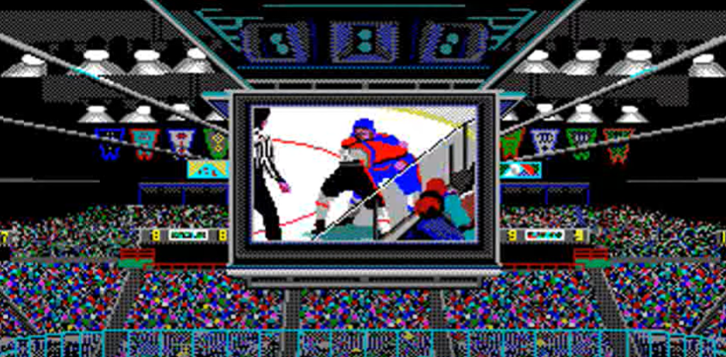 Fight in Wayne Gretzky Hockey video game Lemieux