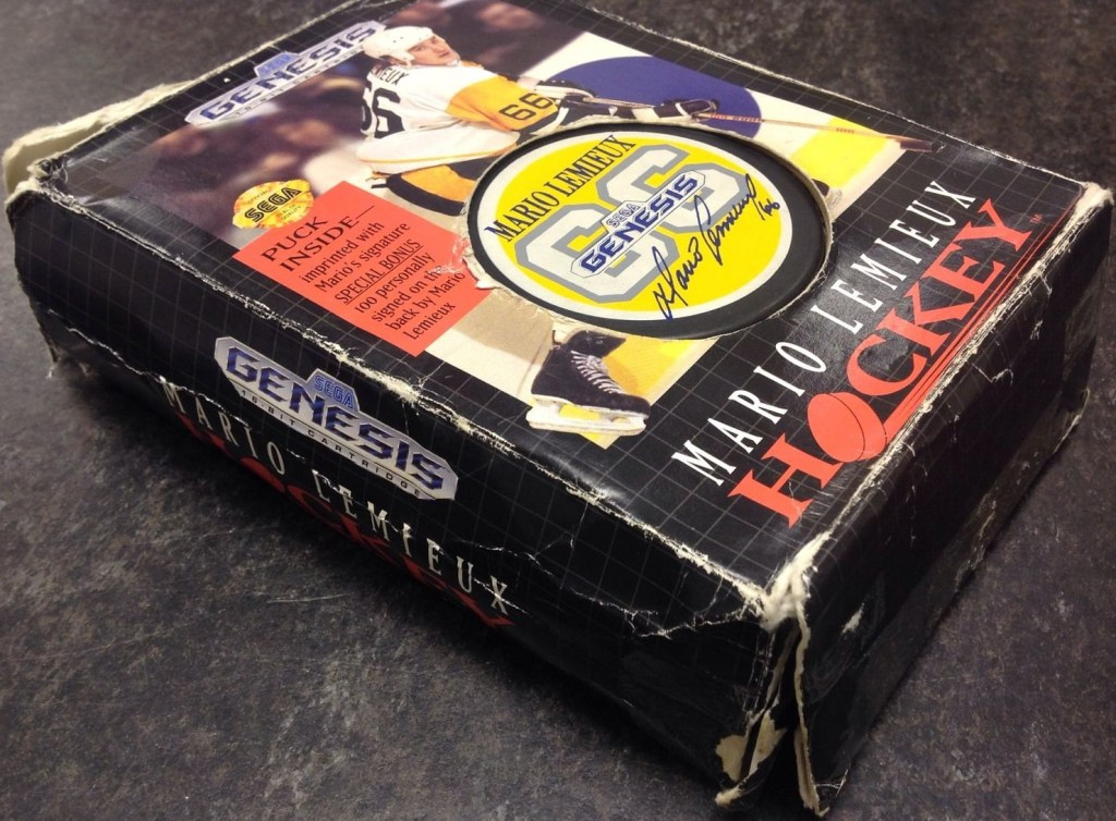 Mario Lemieux Hockey box Sega Genesis puck Gretzky video games