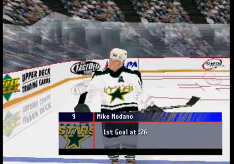 Modano NHL FaceOff Sony hockey video games