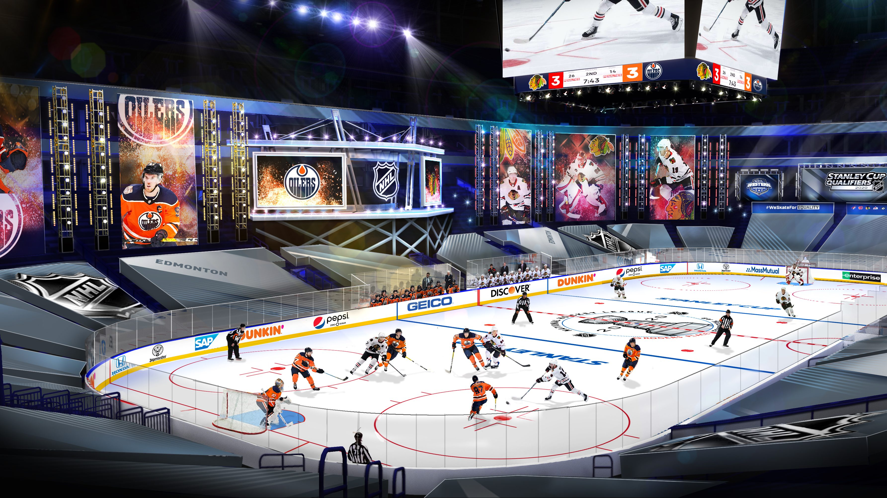 Nhl Shows Off Plans For Edmonton Toronto Return To Play Bubbles