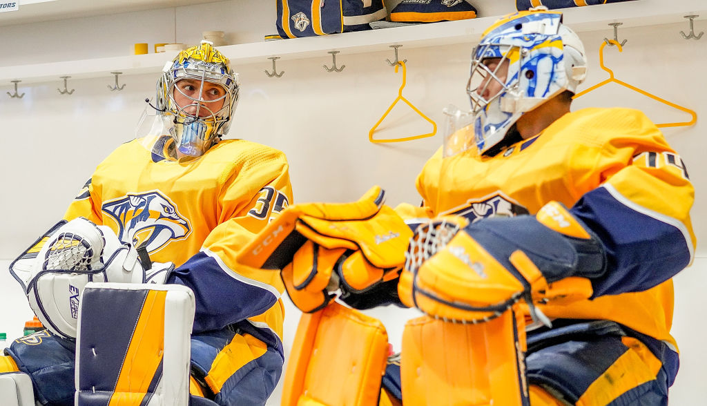 Rinne or Saros Predators starting goalie vs. Coyotes