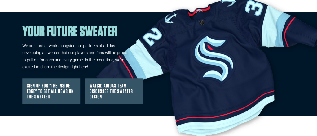 Seattle Kraken jersey sweater uniform team name