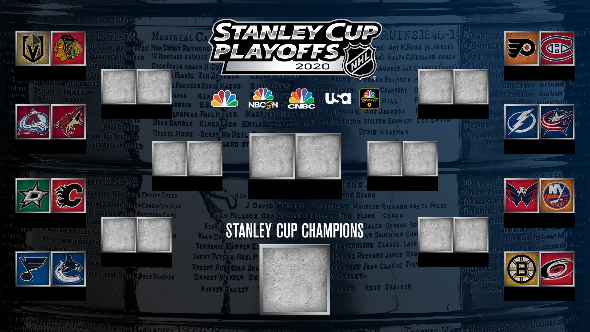 2020 nhl playoff schedule