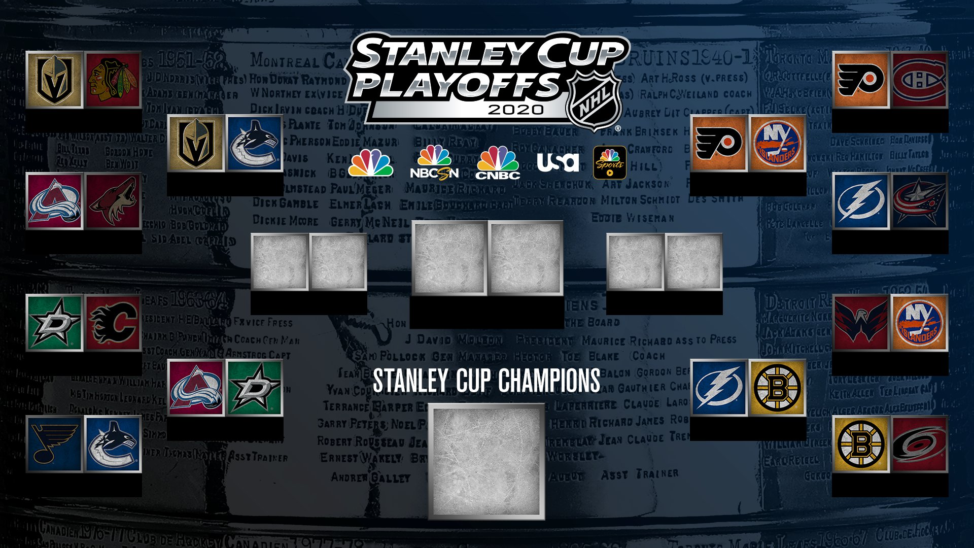 NHL schedule for Second Round of 2020 Stanley Cup Playoffs
