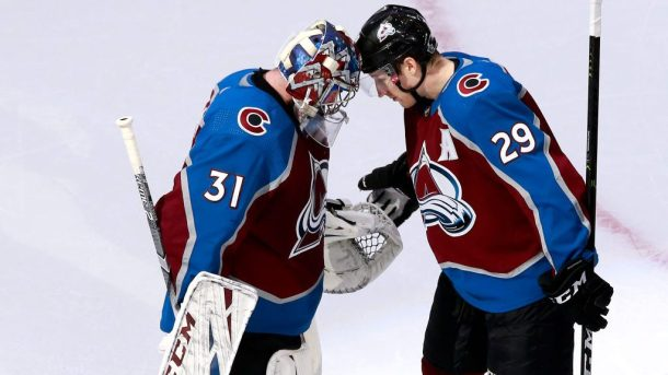Avalanche Coyotes Game 2 Avs Grubauer MacKinnon