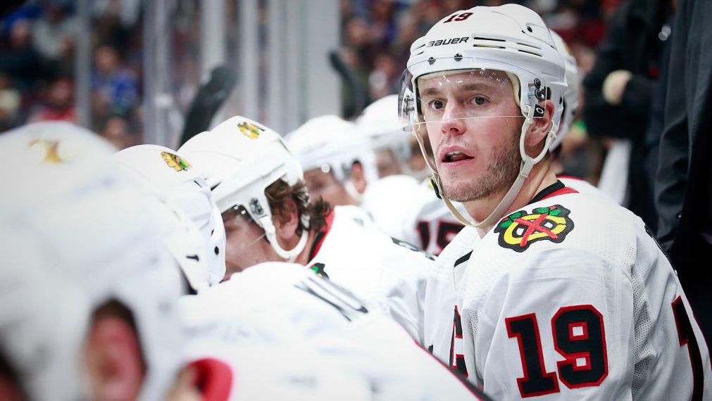Blackhawks rebuild Toews not happy