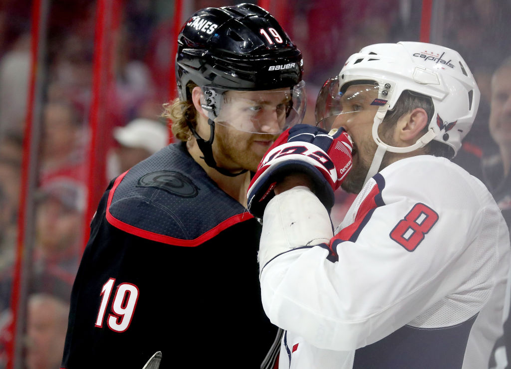 Dougie Hamilton contract extension talks Hurricanes Ovechkin chirping