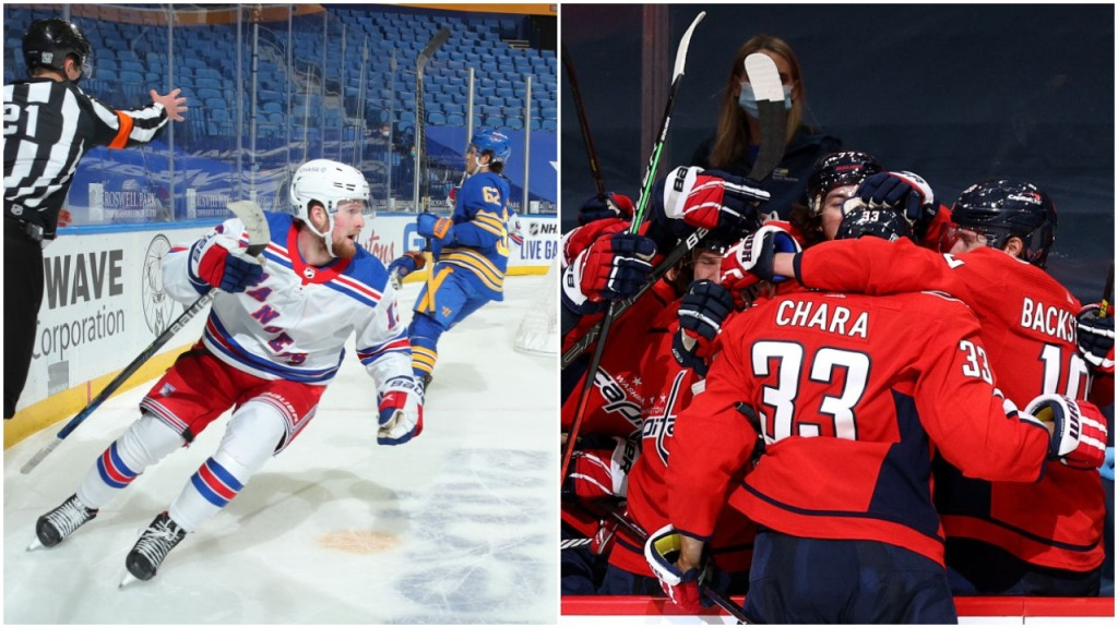 The Buzzer: Very different first goals for Rangers' Lafreniere, Capitals' Chara