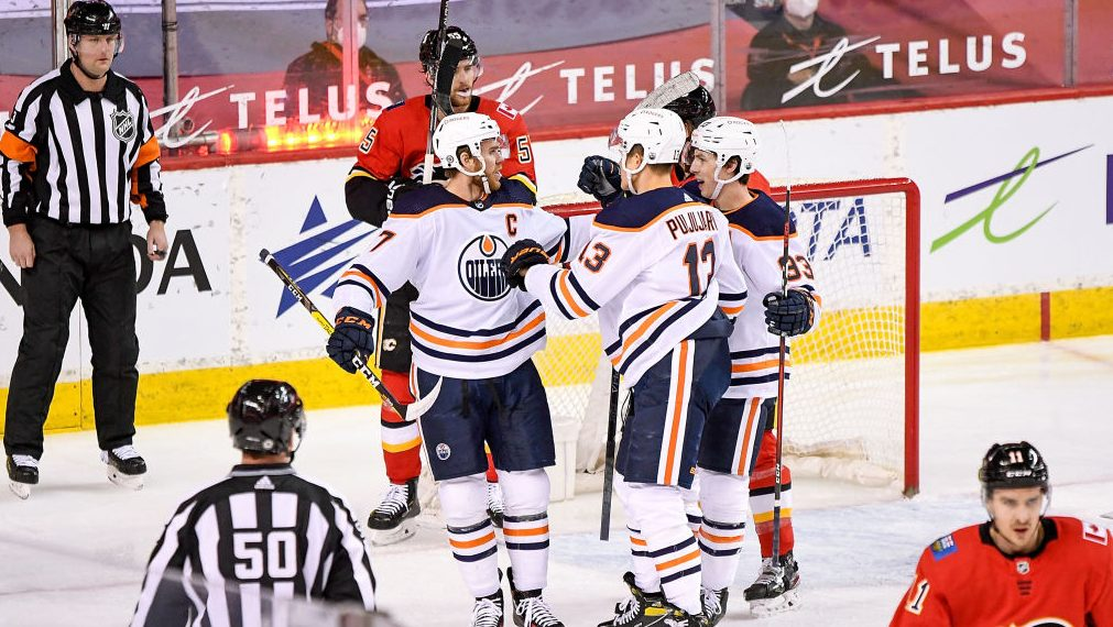 McDavid, Oilers make Sutter's first (return) Flames loss a blowout