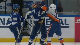 Suspension material? Barzal ejected for cross-checking Rutta in Game 5