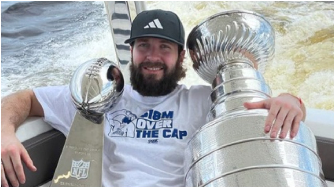 Kucherov continues glorious Stanley Cup celebration with '$18M over cap' shirt
