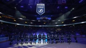 Repeat champ Lightning raise 2021 Stanley Cup banner